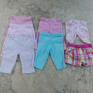 Lot of 7 size 0-3 month bottoms